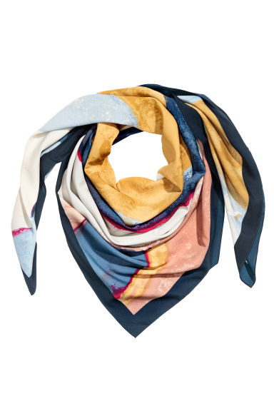 Foulard grande - Blu scuro/fantasia - DONNA | H&M IT 1