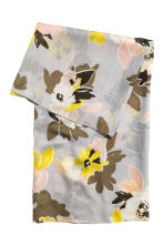 Airy tube scarf - Light grey/Floral - Ladies | H&M 2