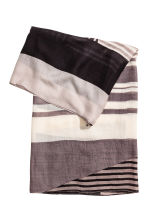 Airy tube scarf - Black/Striped - Ladies | H&M CN 2