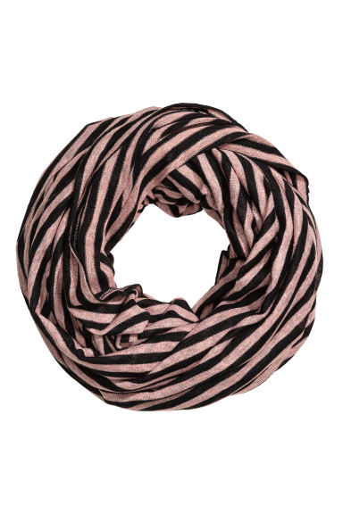 Striped tube scarf - Powder pink/Striped - Ladies | H&M 1