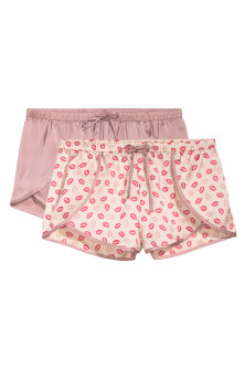2-pack satin pyjama shorts