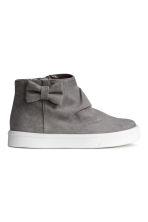 Trainers with a bow - Dark grey - Kids | H&M CN 1