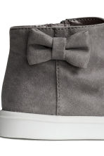 Trainers with a bow - Dark grey - Kids | H&M CN 4