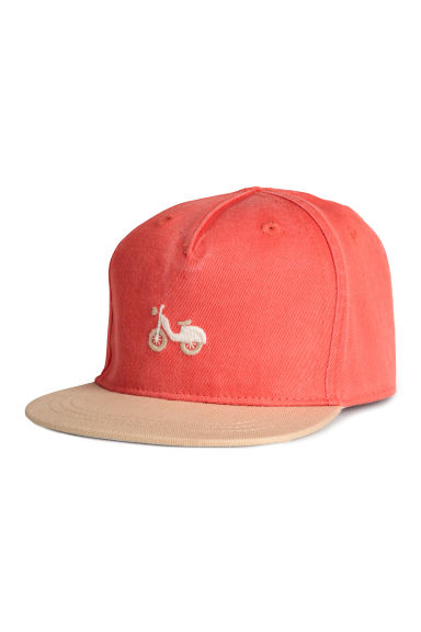 Cap with a motif - Red -  | H&M CA 1