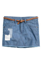 Gonna con cintura intrecciata - Blu denim -  | H&M IT 2