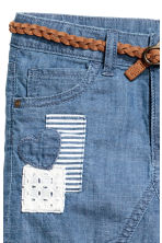 Gonna con cintura intrecciata - Blu denim - BAMBINO | H&M IT 3