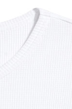 Waffled long-sleeved T-shirt - White - Men | H&M 3