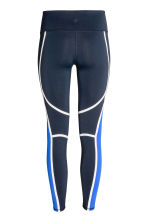 Sports tights - Dark blue - Ladies | H&M CN 3