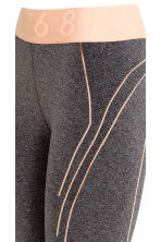Leggings sportivi seamless - Grigio scuro mélange - DONNA | H&M IT 4