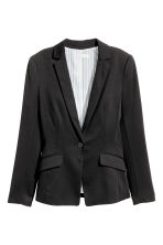Single-button jersey jacket - Black - Ladies | H&M CN 1