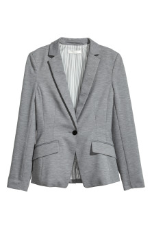 Single-button jersey jacket