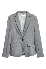 Single-button jersey jacket - Grey marl - Ladies | H&M 2