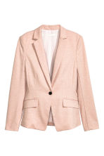 Single-button jersey jacket - Powder pink - Ladies | H&M 2