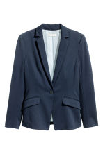 Single-button jersey jacket - Dark blue - Ladies | H&M 2