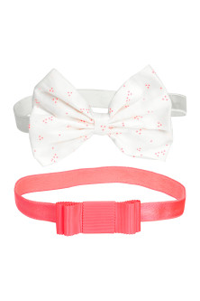 2-pack bow-detail hairbands