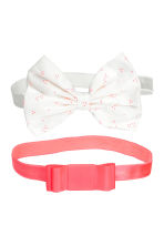 2-pack bow-detail hairbands - Neon pink -  | H&M 1