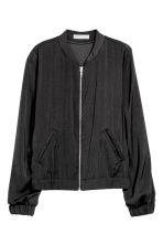 Satin bomber jacket - Dark grey - Ladies | H&M CN 2