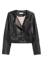 Short biker jacket - Black - Ladies | H&M 2
