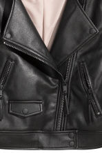 Short biker jacket - Black - Ladies | H&M 4
