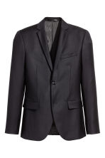 Wool jacket Slim fit - Black - Men | H&M GB 2