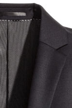 Wool jacket Slim fit - Black - Men | H&M GB 3