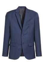Wool jacket Slim fit - Navy blue - Men | H&M 2