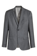 Wool jacket Slim fit - Dark grey - Men | H&M CN 2