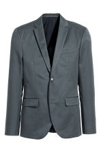 Jacket Slim fit - Grey green - Men | H&M CN 2