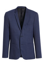 Wool jacket Skinny fit - Navy blue - Men | H&M 2