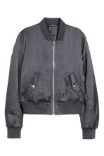 Padded bomber jacket - Dark grey - Ladies | H&M 2
