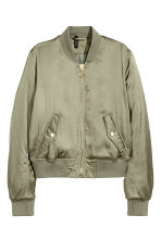 Padded bomber jacket - Khaki green - Ladies | H&M 2