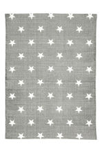 Star-print cotton rug - Grey - Home All | H&M CA 1