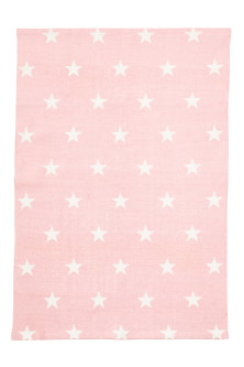 Star-print cotton rug
