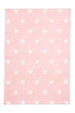 Star-print cotton rug - Light pink - Home All | H&M CN 1