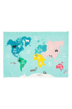 Tapis en coton avec atlas - Turquoise/animal - Home All | H&M FR 2