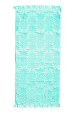 Pineapple-patterned bath towel - Turquoise - Home All | H&M CN 1