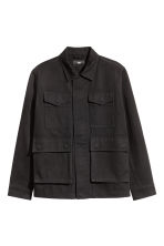 Cotton twill jacket - Black - Men | H&M CN 2