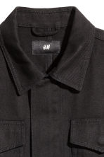 Cotton twill jacket - Black - Men | H&M CN 3
