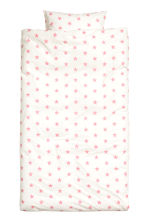 Star-print duvet cover set - White/Pink - Home All | H&M CN 1