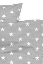 Star-print duvet cover set - Grey/White - Home All | H&M CN 2