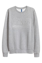 Grey marl/Text