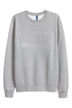 Sweat - Gris chiné/texte - HOMME | H&M FR 2