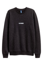 Sweatshirt - Black/Neps - Men | H&M 2