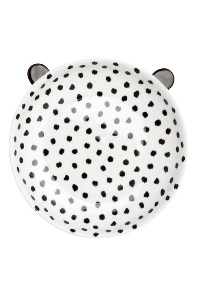 Spotted plate - White/Black - Home All | H&M CN 1