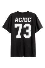 Printed T-shirt - Black/AC/DC - Men | H&M 3