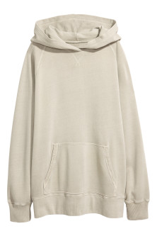 Washed hooded top