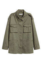 Cargo jacket - Khaki green - Ladies | H&M CA 1