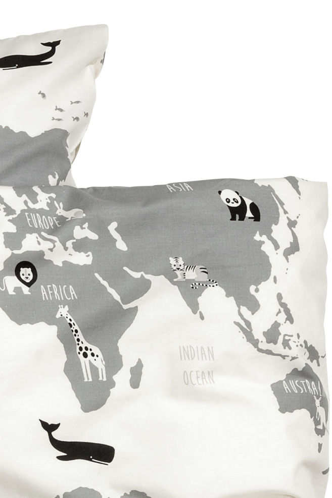 World map duvet cover set whiteanimal home all hm gb world map duvet cover set whiteanimal home all hm gumiabroncs Gallery