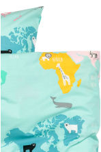 Set copripiumino con mappa - Turchese/animale - HOME | H&M IT 2