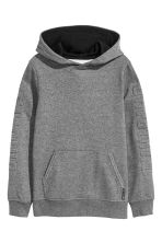 Hooded top - Dark grey marl - Kids | H&M CN 2